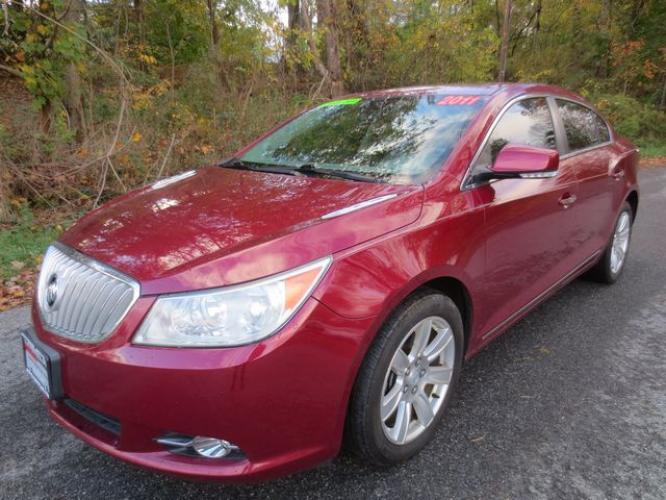 2011 Red /Gray Buick Lacrosse CXL (1G4GD5ED2BF) with an 3.6L V6 engine, Automatic transmission, located at 270 US Route 6, Mahopac, NY, 10541, (845) 621-0895, 41.349022, -73.755280 - Photo #0