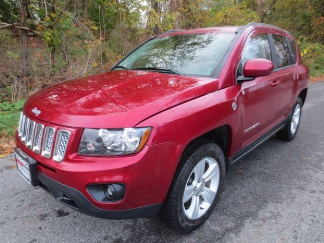 2014 Red /Tan Jeep Compass Latitude (1C4NJDEB6ED) with an 2.4L 4cyl engine, Automatic transmission, located at 270 US Route 6, Mahopac, NY, 10541, (845) 621-0895, 41.349022, -73.755280 - Photo #0